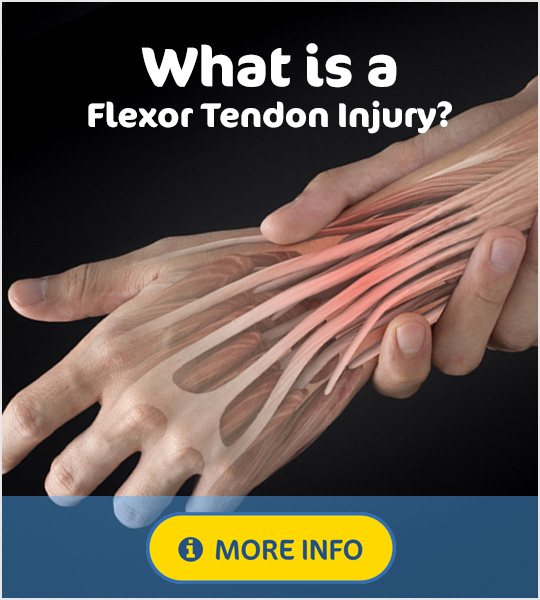 What is a flexor tendon injury