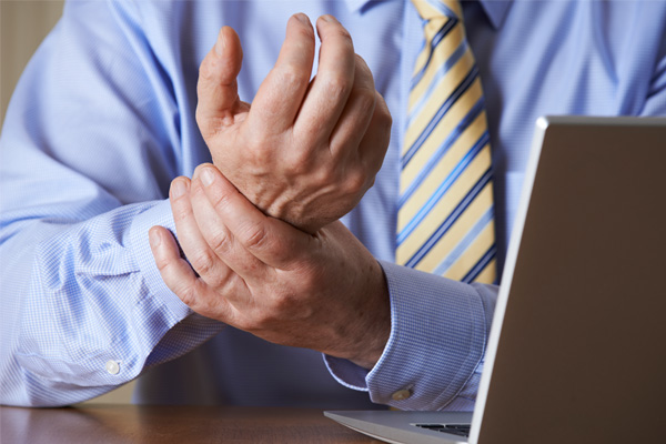 Repetitive strain injury of the wrist office worker